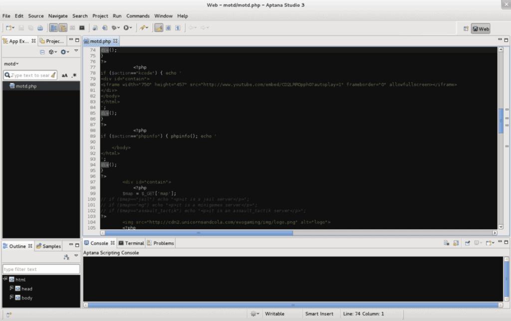 עורך html