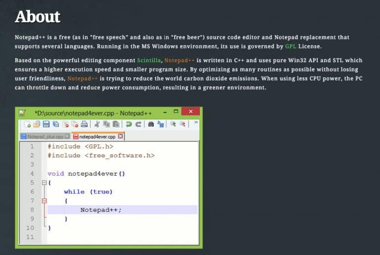 עורך html ++ פנקס רשימות