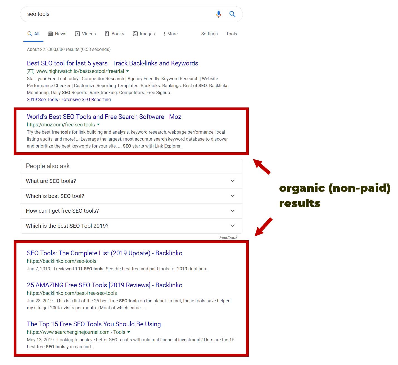 מדריך קידום אתרים תוצאות אורגניות של גוגל