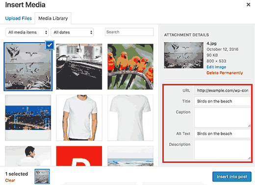 קידום אתרי וורדפרס הוסף תגי alt ו- title לתמונות שלך ב- WordPress