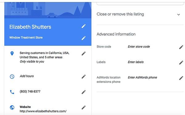מידע גוגל לעסק שלי Google My Business