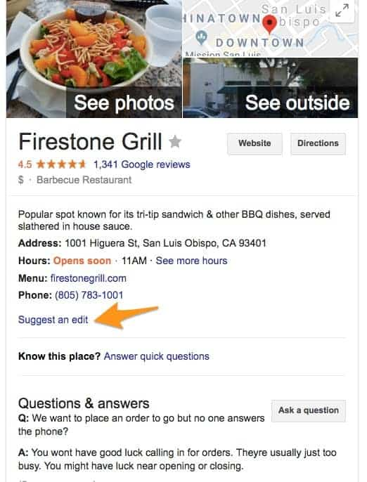 עריכה גוגל לעסק שלך Google My Business