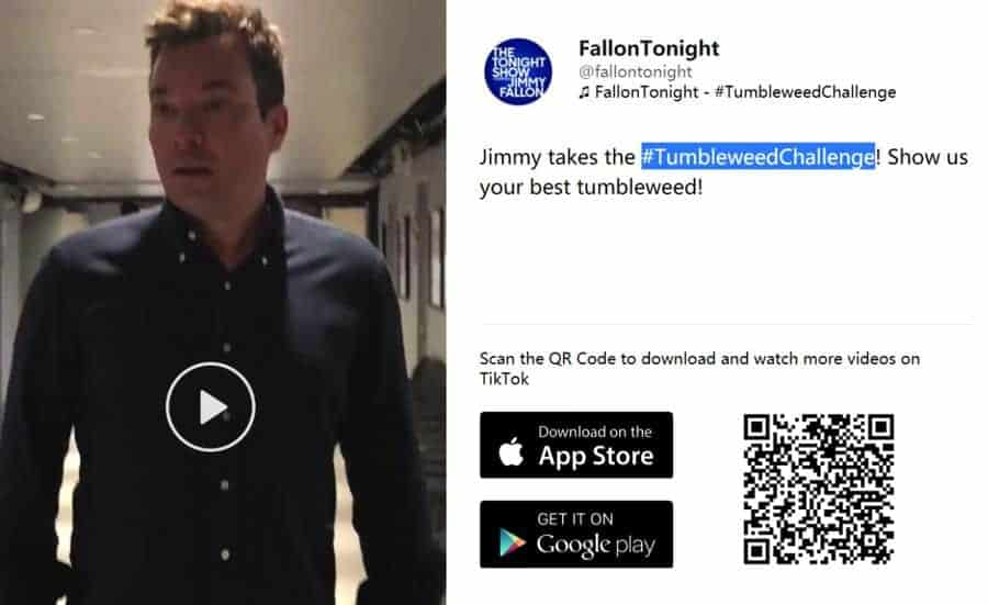 מה זה טיק טוק #TumbleweedChallenge של ג'ימי פאלון