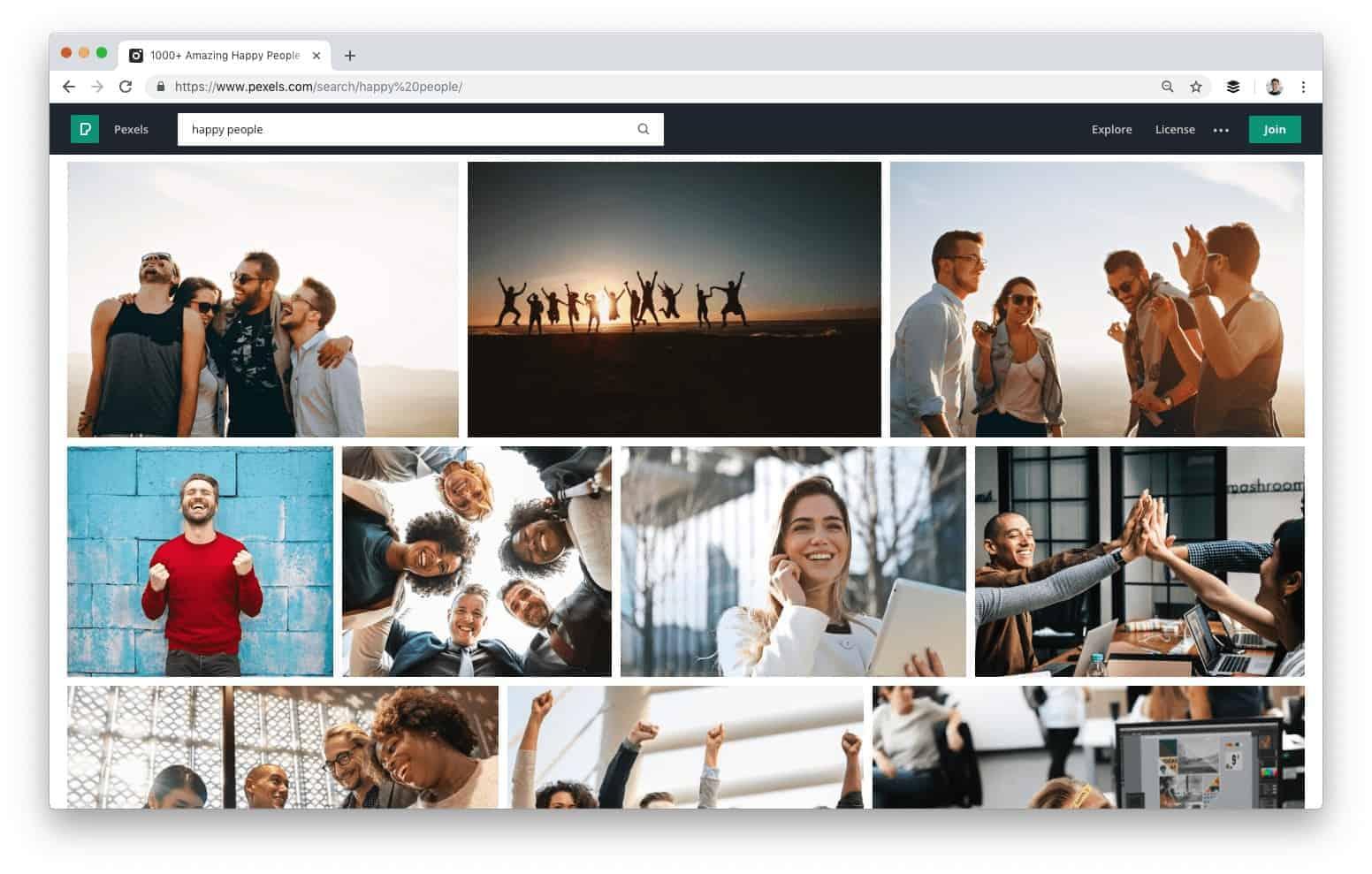 Pexels אתרי תמונות בחינם ללא זכויות יוצרים