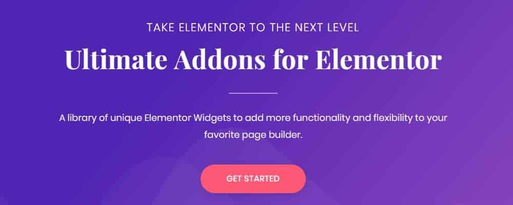 Ultimate Addons for Elementor תוסף עבור האלמנטור