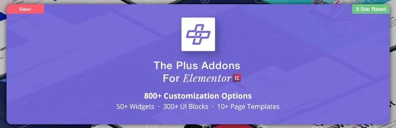 תוסף אלמנטור The Plus Addons